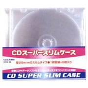 ECD-S6 CL [CDスーパースリムケース 1枚収納×6枚入り クリア]