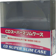 ECD-S6 BK [CDスーパースリムケース 1枚収納×6枚入り ブラック]