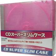 ECD-S6 RD [CDスーパースリムケース 1枚収納×6枚入り レッド]