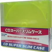 ECD-S6 YE [CDスーパースリムケース 1枚収納×6枚入り イエロー]