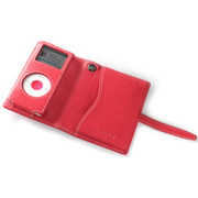 TUN-IP-300020 (レッドレザー/ホワイトスティッチ) [iPod nano(1st/2nd)用 キャリングケース] PRIE TUNEWALLET micro for iPod nano RED