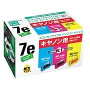 ECI-CA07E3P/BOX [キヤノン BCI-7E/3MP 互換リサイクルインクカートリッジ 3色パック]