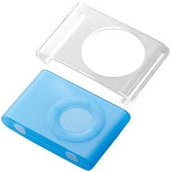 AVD-SPA2SBU (クリア/ブルー) [iPod shuffle(aluminum)専用 シリコンケース&クリアケース]
