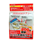 DFC-200 [CD/DVD 不織布ケース 両面収納型 100枚]