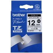 TZ-AFW31 [デザインテープ マーブルホワイト 黒文字 12mm幅 8m]