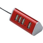 HBH4TRRD [USB2.0対応 マグネット内蔵4ポートハブ 限定カラーレッド]
