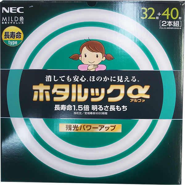 FCL32.40ENM-SHG-A [丸形蛍光灯 ホタルックα マイルド色(昼白色) 32形+40形(30W+38W) 2本入]