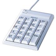 BTKU02WHA [USB1.1対応 Tabキー付きテンキーボード ホワイト]