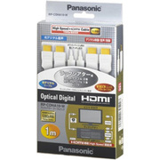RP-CDHA10-W [HDMIケーブル 1.0m(2本)・光デジタルケーブル 光角形1.0m(1本) セット]