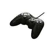 BGCUCF1206BKA [振動&連射機能付 デジタル&アナログ USBゲームパッド 12ボタン ブラック]