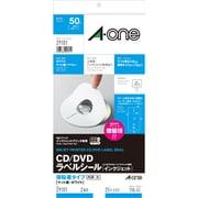 29181 [CD/DVDラベルシール インクジェットプリンタ専用タイプ 強粘着タイプ マット紙・ホワイト A4判変型 2面 内径・大 25シート]