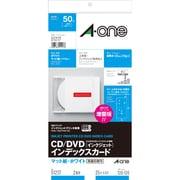 51217 [CD/DVDインデックスカード インクジェット マット紙・ホワイト A4判変型 2面 25シート]