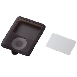 AVD-SCA3NBK (ブラック) [3rd iPod nano用保護フィルム付きシリコンケース]