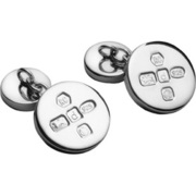CUFF/C-SS [カフス Cufflinks Round With Chain Feature Hallmark]