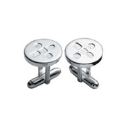 CUFF/D-SS [カフス Cufflinks Round With post Feature Hallmark]