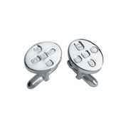 CUFF/F-SS [カフス Cufflinks Oval With Feature Hallmark]