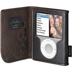 F8Z206-KR (ブラック/チョコレート) [iPod nano 3rd用 レザーケース]