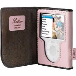F8Z206-RK (カメオピンク/チョコレート) [iPod nano 3rd用 レザーケース]
