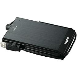 LHD-PBF160U2BK [USB2.0対応 耐衝撃ポータブルハードディスク 160GB ブラック]