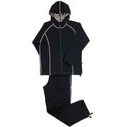 シェイプスーツ サーモゲティア [30'UP DIET 男性用・フード付(LLサイズ・ブラック×グレー)]
