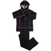 シェイプスーツ サーモゲティア [30'UP DIET 女性用・フード付(Lサイズ・ブラック×ピンク)]