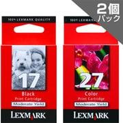 LEX17+27-J 10N0591-J [LEXMARKプリンター用インクカートリッジ ブラック(エコノミー)+カラー(エコノミー) 2個パック]