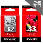 LEX32+33-J [LEXMARKプリンター用インクカートリッジ ブラック(標準)&カラー(標準) 2個パック]