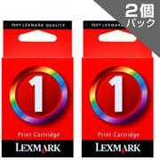 LEX-1-J TwinPack TPJPN05-J [LEXMARKプリンター用インクカートリッジ カラー(標準) 2個パック]