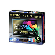 DRAM240DMY4B5S [録画用DVD-RAM 240分 2-3倍速 CPRM対応 5枚 カートリッジタイプ]