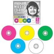 CDRA80MIX.S1P5S [音楽用CD-R 80分 5枚 カラーミックス]