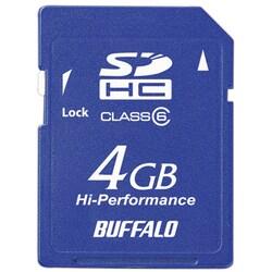 RSDC-G4GC6 [Class6対応 SDHCメモリーカード 4GB ブルー]