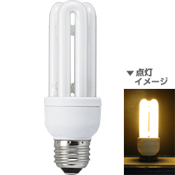 電球形蛍光灯 EFD15EL13Y 省エネランプ D形・E26口金(電球色) 60W電球タイプ