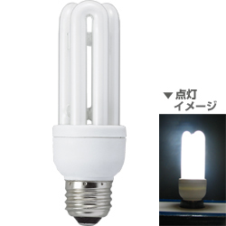 電球形蛍光灯 EFD15ED13Y 省エネランプ D形・E26口金(昼光色) 60W電球タイプ