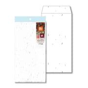 ナフ-111 [和み紙(なごみがみ) 厚漉和紙 封筒 長形3号(120×235mm) A4 三つ折 しろ 入数:10枚]