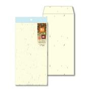 ナフ-112 [和み紙(なごみがみ) 厚漉和紙 封筒 長形3号(120×235mm) A4 三つ折 とりのこ 入数:10枚]