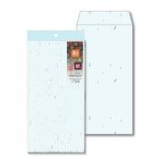 ナフ-113 [和み紙(なごみがみ) 厚漉和紙 封筒 長形3号(120×235mm) A4 三つ折 みず 入数:10枚]