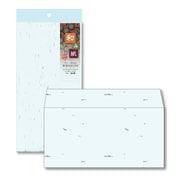 ナフ-313 [和み紙(なごみがみ) 厚漉和紙 封筒 DL(洋形) (220×110mm) A4 三つ折 みず 入数:10枚]