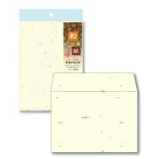 ナフ-412 [和み紙(なごみがみ) 厚漉和紙 封筒 洋形2号(162×114mm) はがき とりのこ 入数:10枚]