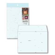 ナフ-413 [和み紙(なごみがみ) 厚漉和紙 封筒 洋形2号(162×114mm) はがき みず 入数:10枚]