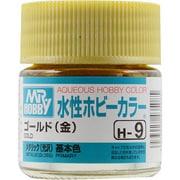 H-9 [水性ホビーカラー<水溶性アクリル樹脂塗料> ゴールド(金)]