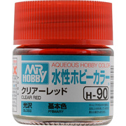 H-90 [水性ホビーカラー<水溶性アクリル樹脂塗料> クリアーレッド]