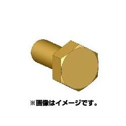 ANE0010 六角ボルトヘッドL 真鍮製 45個 [ボルトヘッドシリーズ]