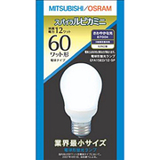 電球形蛍光灯 EFA15ED12SP スパイラルピカミニ A形・E26口金(昼光色) 60W電球タイプ