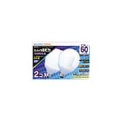 電球形蛍光灯 EFG15ED13SP2P スパイラルピカ G形・E26口金(昼光色) 60W電球タイプ(2個入)