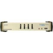 CS1784 [CPU切替器 USBキーボード・マウス・DVIモニタ・オーディオ対応 PC4台用 USBハブ2ポート搭載]
