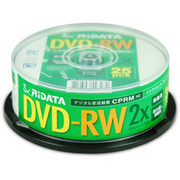 DVD-RW12025WHT [録画用DVD-RW 120分 1~2倍速 CPRM対応 25枚 インクジェットプリンタ対応]