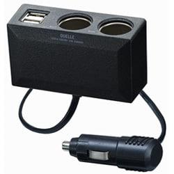 CUMA01BK [(ブラック) USB2ポート&2連ソケット マルチカーチャージャー]