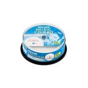 CDRA80WP.20SP [音楽用CD-R インクジェットプリンター対応 80分 20枚]