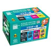 ECI-BR094P/BOX [ブラザー LC094PK 互換リサイクルインクカートリッジ 4色パック]