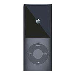 MIPSK-NANO4BK [4th iPod nano用シリコン素材ジャケット型プロテクター nanoSkin4 ブラック]